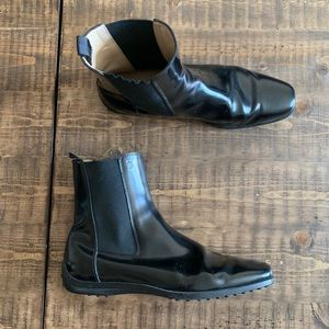 Tods ankle  boots shoes sz 8.5 black